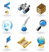 stock photo of inkpot  - High detailed realistic icons for geography - JPG