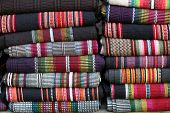 pic of bangladesh  - Shawls and blankets woven by indigenous women in Bandarban District of the Chittagong Hill Tracts  - JPG