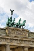 foto of rebuilt  - The Brandenburg Gate is a former city gate rebuilt in the late 18th century as a neoclassical triumphal arch and now one of the most well - JPG