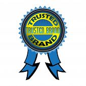 Trusted brand badge poster