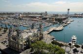 Постер, плакат: Воздушный вид через порт Велл Барселона Испания