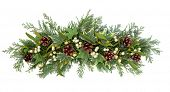 foto of greenery  - Christmas floral decoration with mistletoe - JPG