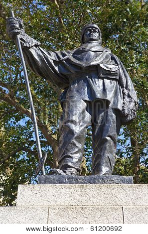 Captain Robert Falcon Scott Statue In London