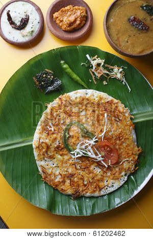 Carrot Dosa - A South Indian pancake