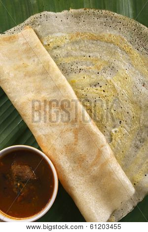 Egg Dosa is a thin crisp pancake from India
