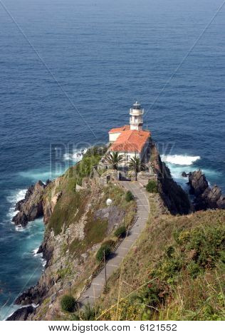 Lighthouse in Cudillero