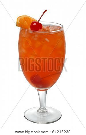 Mai Tai cocktail drink cutout, isolated on white background