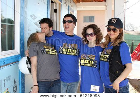 LOS ANGELES - MAR 8: Kelly Sullivan, Dominic Zamprogna, Rick Hearst, Rebecca Herbst, Lisa LoCicero at the 5th Annual General Hospital Habitat for Humanity Fan Build Day on March 8, 2014 in Lynwood, CA
