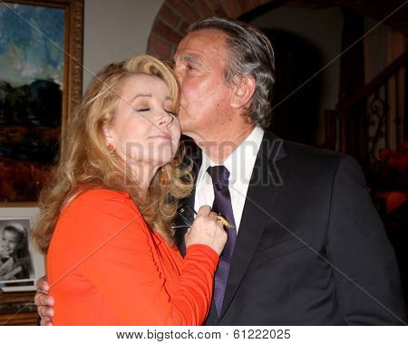 LOS ANGELES - MAR 4:  Melody Thomas Scott, Eric Braeden at the Melody Thomas Scott Celebrates 35 Years at the