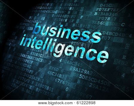 Business concept: Business Intelligence on digital background
