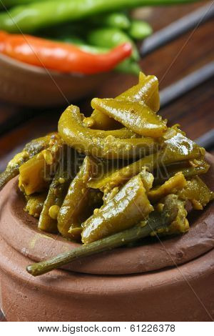 Chilli Pickle - A popular Indian pickle