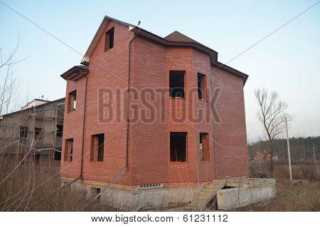 Lost city.Near Chernobyl area.Kiev region,Ukraine.Abandoned cottage construction site