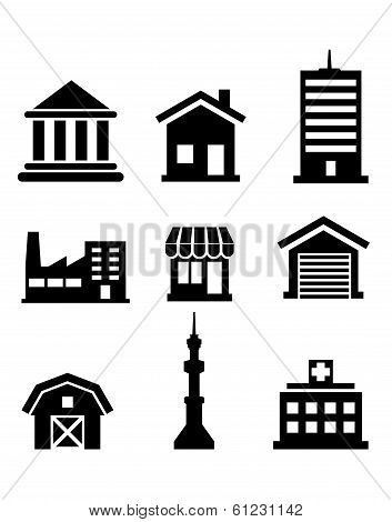 Buildings and architectural icons