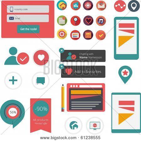 Flat web/app graphics
