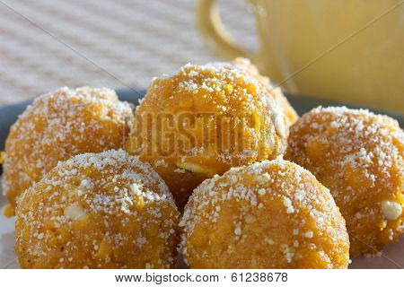 Ladoo - laddu is a sweet dish from India