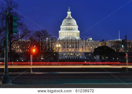 Washington DC - Capitol building at night