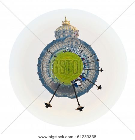 Spherical View Of Hotel Des Invalides In Paris