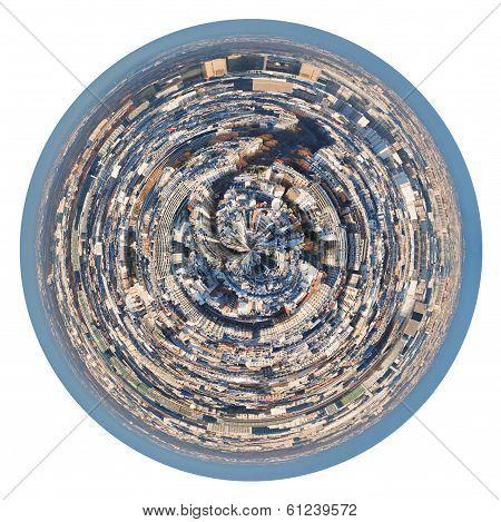 Spherical Panorama Residential Area Of Paris