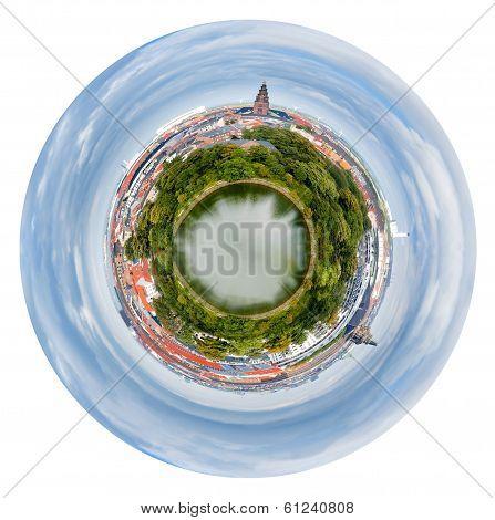 Spherical View Of Copenhagen City, Denmark