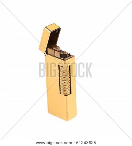 Elegant golden gas lighter.