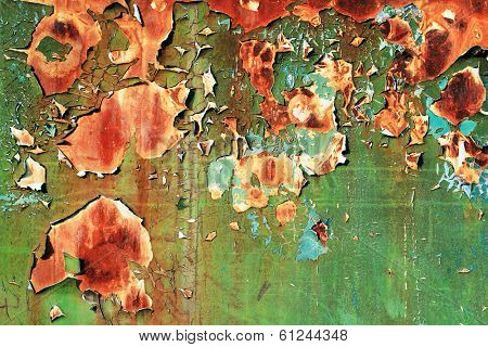 Abstract shriveled paint background