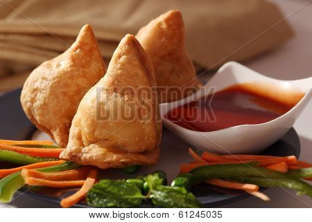 Samosa- An Indian fried, baked pastry.