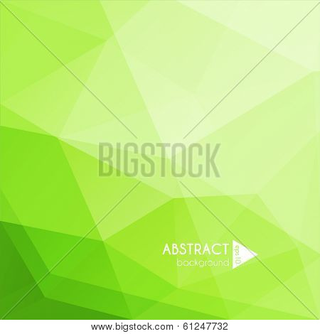 Abstract green geometric background - eps10 vector