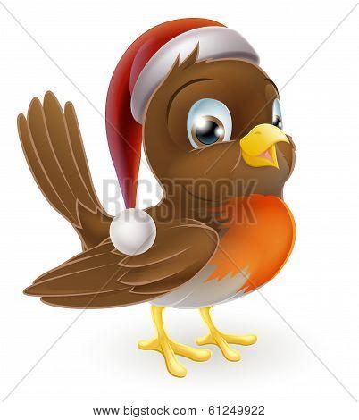 Christmas Cartoon Robin
