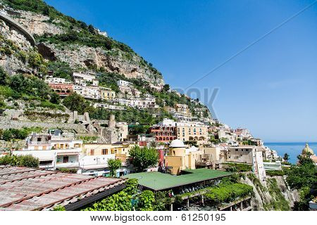 Parking Beneath Positano Hill