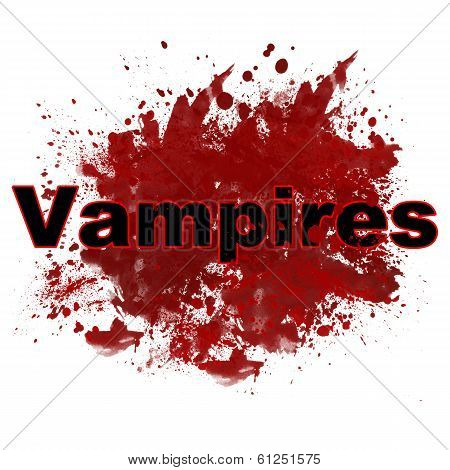 Vampires In Red Messy Blot