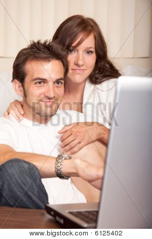 Sweet Young American Couple Lifestyle