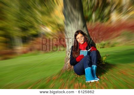 Sad Woman Reading