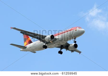 Avianca Passenger Jet Airplane Landing