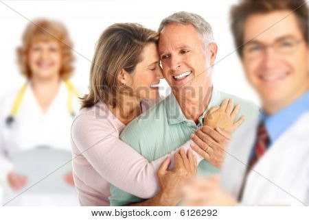 Doctor And Elderly Couple