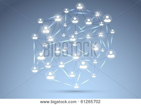 Social Network Concept Background