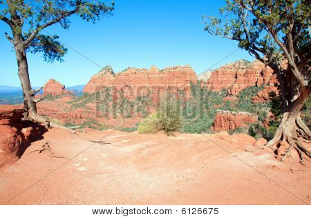 Sedona, Red Sandstone, Az, Usa