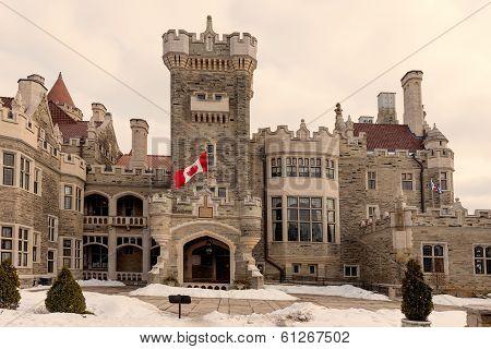 Exterior Facade Of Casa Loma In Toronto