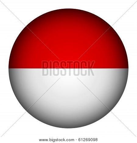 Monaco Flag Button.