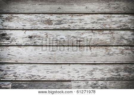 Old Wood Wall Background and Texture Termite damage