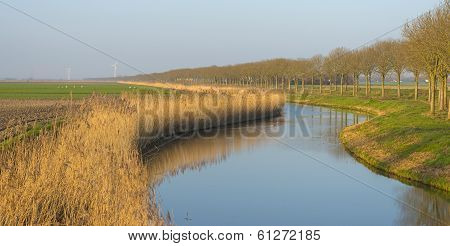 River meandering through the countryside