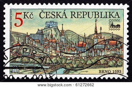 Postage Stamp Czechoslovakia 2000 View Of Brno