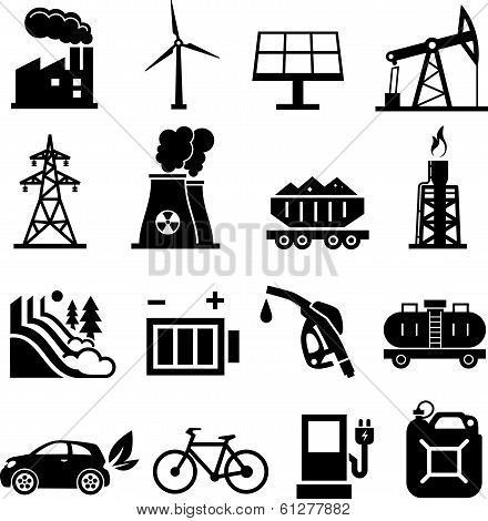 Energy Icons Black