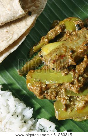 Eggplant/brinjal Podi Curry from India