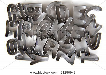 Alphabet From Steel (ginger Bread Form)
