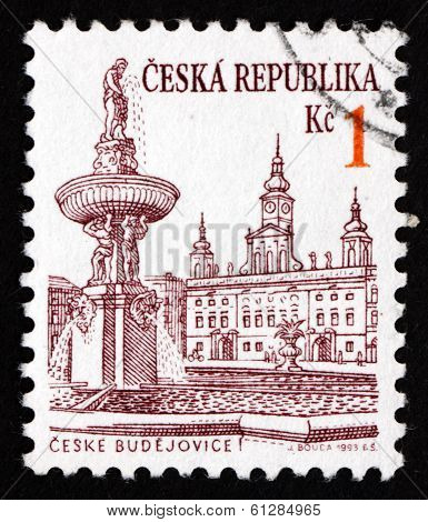 Postage Stamp Czechoslovakia 1993 View Of Ceske Budejovice
