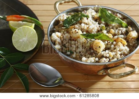 Sabudana Khichdi - Sauted Sabudana from India