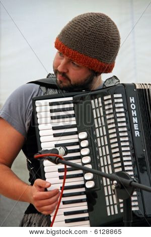 Pablo Perez of Django Spears at the Apple Festival