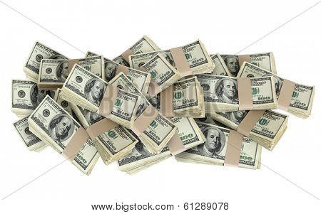Pile of 100 Dollar Bills