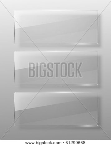 Glass framework. Vector illustration. Eps 10