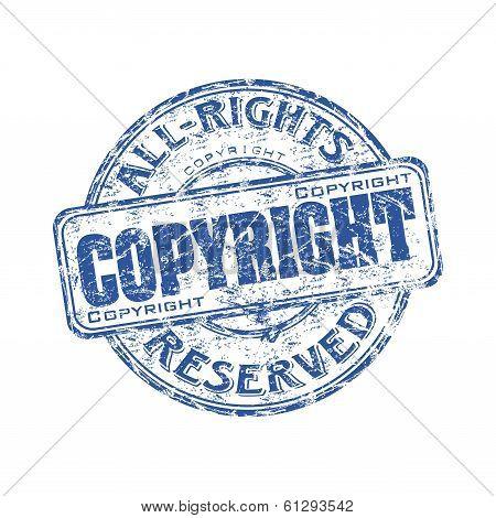 Copyright grunge rubber stamp